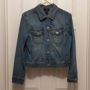Ann Taylor Jeans Denim Jacket Size L